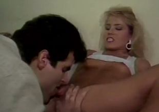 Classic porn scene with Dana Lynn, Barbie Doll and Laurel Canyon