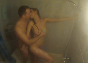 Sasha and Milana take shower jointly