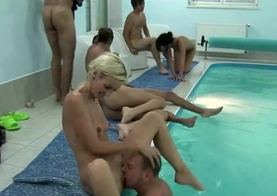 SWIMMING-POOL ORGY AT CZECH MEGA SWINGERS