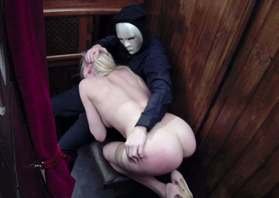 Desirable blonde hoe Tamara Grace gets drilled hard by a priest