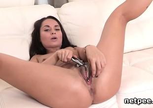 Kristall Rush toying and dildo fucking herself