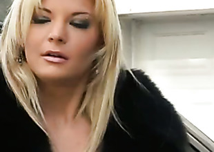 Seductive pornstar Shana Spirit fucking herself with toy