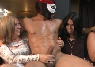 Milfs and youngsters mouth-fucking love sticks