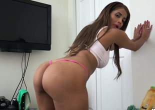 sexy is in an incredible pov video. She has a great ass and that babe loves to do the cowgirl dance on the dong. She takes the d in her mouth prior to taking care of it cowgirl style