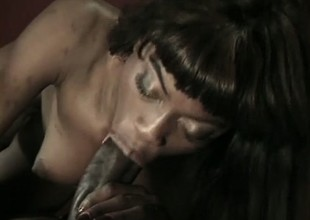 Ravishing chocolate honey gets her fascinating kitty permeated by BBC