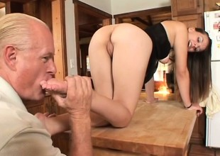Melissa Juliana gets Dick Nasty riled up and they do their foot fetish and footjob