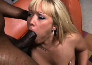 Austin Taylor gets her first black cock to play with and loves it