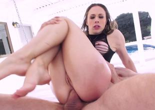 Constricted ass of hot pornstar Chanel Preston fucked by a large dick