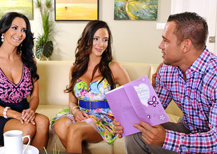 Ariella Ferrera & Ava Addams & Johnny Castle in My Allies Hawt Mama
