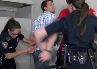 CFNM police milfs jerking their subs