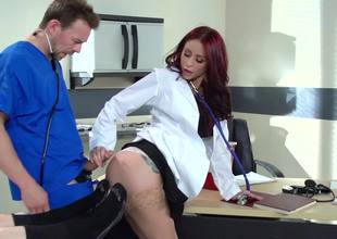 Dirty-minded doctor with ease seduces her virginal student