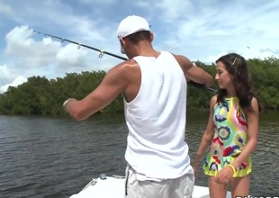Juvenile Amia Miley catches a huge male rod instead of fishing!