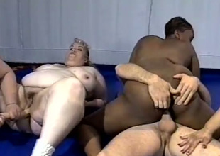 Bodacious fatties take some hardcore anal pounding