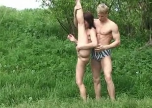 Swinger couples playing in water after a hard sex orgy