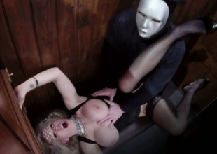 Alluring blond beauty Rebecca Moore nailed well in the confessional