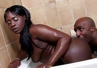 West Coast Productions Black sweetheart gets a creampie