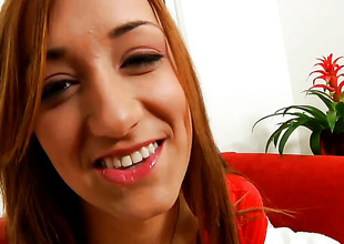 Victoria Rae with biggest knockers and clean beaver is too horny to stop playing with herself