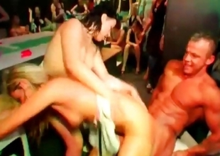 Nymphos fucked by strippers at fuckfest