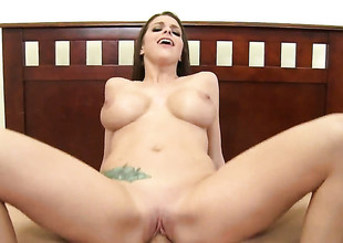 Brooklyn Chase gets her mouth banged so hard by Billy Glide that that babe wont beg for more