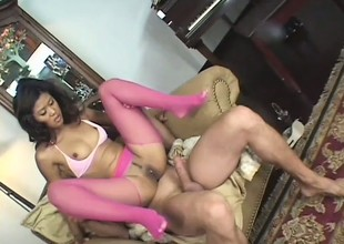 Slutty Oriental chick spreads her legs for a unfathomable dick drilling