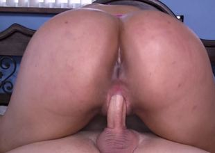 Milf with large wobblers and an ass to match is naked and fucked