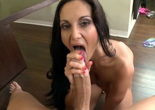 Milf is getting her wet cum-hole pounded on the pool table with balls