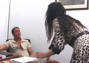 Hot Italian mom sucks wang before anal