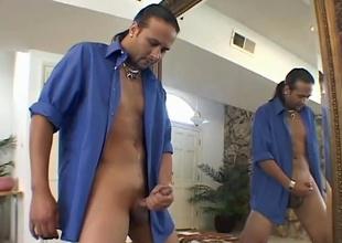 Jason Arrow strokes his cock, from Handy Chap #4