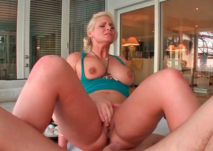 Phoenix Marie engulfing big pecker and riding on it wildly