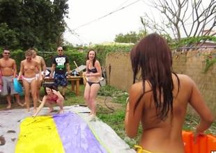Gulliana Alexis, Lacy Channing, Olivia Ryder - Baths Party Wazoo Bounce