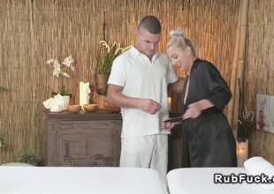 Experienced masseur gets oral sex and fuck