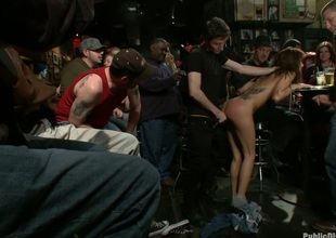 Gia DiMarco gets Double Permeated at a Public Bar