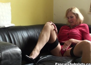 Molly in cock-teasing as she gets herself off - PascalsSubSluts