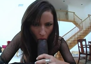 Lola touches herself throughout her fishnet gear in advance of kneeling to suck Lex's large dick. Lex then proceeds to ream her cunt on almost each piece of furniture the room holds. The passion rises as they switch poses until Lola kneels afresh to have her fac