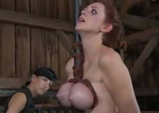 This Sadomasochism clip shows the mistress hitting the thrall with a wooden stick
