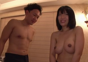 Dildo loving Japanese girl would rather have his cock inside her