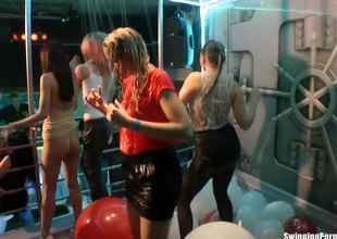 European pornstars dancing and getting wet at a sex party