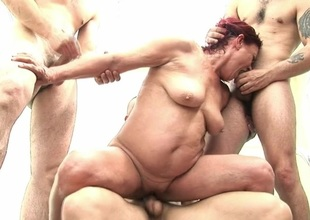 two mature sluts getting fucked by plenty of guys