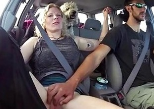 Playing With The GFs Cum-hole On A Roadtrip