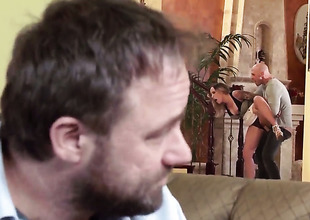 Payton West cant live a day out of getting her mouth fucked by hot dude Johnny Sins