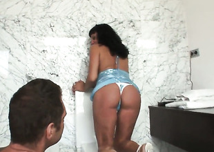 Daniela G gets her beaver slam fucked by Nacho Vidal