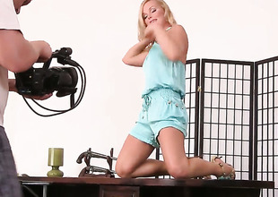 Silvia Saint playing with herself for webcam