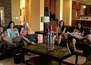 Alektra Blue,Ava Addams, Gianna Nicole and Kayla Kayden are among ten hottest pornstars that gather jointly to have fun. Thet are in the same mansion and ready to get dirty things started.