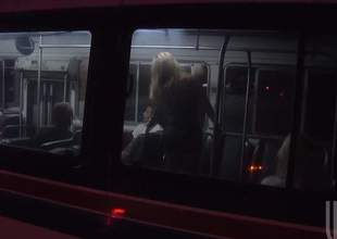 Jessica Drake and her family had to take the bus since the car broke. Little did they know that they were all gonna get turned on and start an intense family fuckfest in the bus