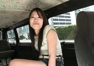 Jen Li with wet bottom fulfills her raunchy needs with guys snake in her mouth