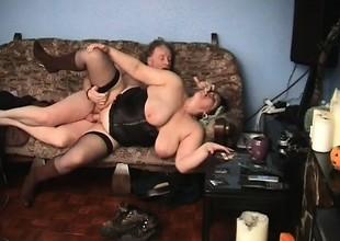 Sexy Granny Titty Fucking Action