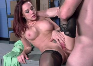 Secretary sex in nylons with the slutty Chanel Preston