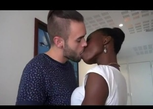 Sexy interracial pair having a fine fuck time