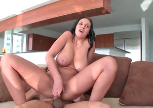 Horny milf Bella with big zeppelins and butt gets drilled hard