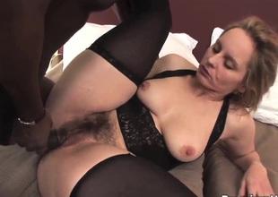 Big gazoo milf Magda get satisfied by black stud